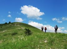 Hiking in the Crimea stock photography