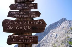 Hiking Bavarian Alps Royalty Free Stock Photo