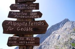 Hiking Bavarian Alps Royalty Free Stock Photo