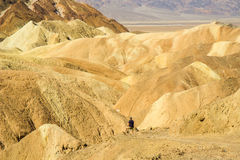 Hiking in Death Valley Stock Images