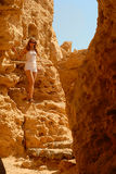 Hiking in the desert Stock Photo