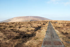 Hiking on Djouce Mountain. Co Wicklow - Ireland Royalty Free Stock Images