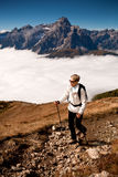 Hiking in Dolomite Royalty Free Stock Image