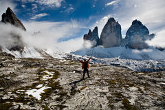 Hiking in Dolomite Stock Image