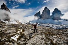 Hiking in Dolomite Stock Image