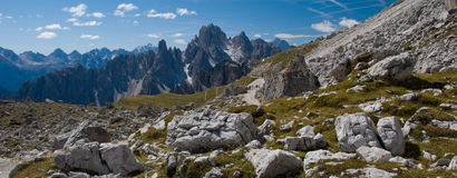 Hiking in the Dolomites. Hiking in the Dolomite Mountains of Italy Stock Photo