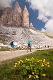 Hiking in Dolomites Royalty Free Stock Photos