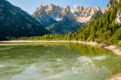 Hiking in Dolomites Stock Photos