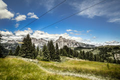 Hiking in The Dolomites Mountains Stock Image
