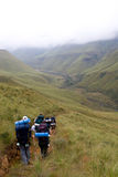 Hiking in the Drakensberg Royalty Free Stock Photography