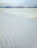 Hiking the dunes in White Sands National Monument, New Mexico at dawn royalty free stock photos