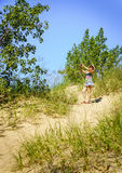 Hiking in the dunes Stock Photography
