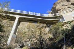 Hiking at Eaton Canyon Falls Trail Stock Photos