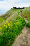 Hiking in ebey's landing Royalty Free Stock Image