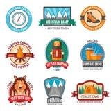 Hiking emblem set Royalty Free Stock Photo