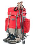 Hiking equipment Royalty Free Stock Photo
