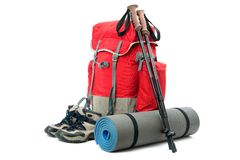 Hiking equipment Royalty Free Stock Image