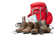Hiking equipment Royalty Free Stock Photography