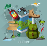 Hiking equipment Stock Photo