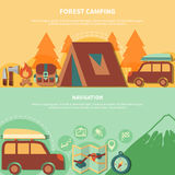 Hiking Equipment And Navigation Accessories For Forest Camping Royalty Free Stock Photo