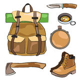 Hiking equipment Royalty Free Stock Images