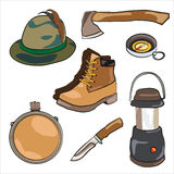 Hiking equipment Stock Photography