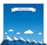 Hiking Event Poster Royalty Free Stock Image