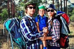 Hiking family Stock Image