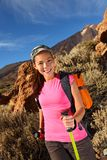 Hiking - Female hiker Royalty Free Stock Photos
