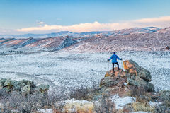 Hiking foothills in northern Colorado Stock Photo