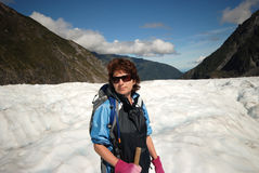 Hiking Fox glacier. Royalty Free Stock Images