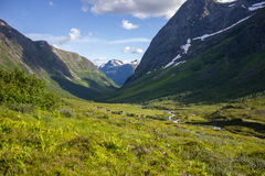 Hiking Geirangerfjorden in Norway Royalty Free Stock Images