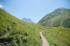 Hiking in Georgia Mountain Stock Image