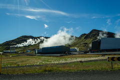 Hiking in geothermal country. Just near the main hot water springs that supplies Reykjavik with hot water Royalty Free Stock Photography