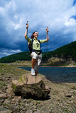 Hiking girl 1 Royalty Free Stock Photos