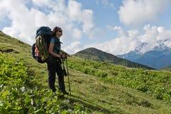 Hiking girl. Stock Photography