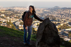 Hiking girl Royalty Free Stock Photography