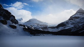 Hiking in the Glacier Stock Photography