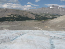 Hiking on a Glacier in the Rocky Mountains Stock Photos