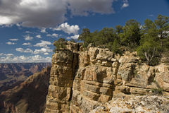 Hiking the Grand Canyon Cliffs Stock Images