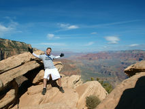 Hiking the Grand Canyon Royalty Free Stock Photo