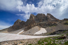 Hiking in the Grand Teton Mountains stock image