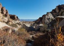 Hiking the Grapevine Canyon, Nevada stock image