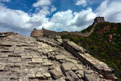 Hiking the Great Wall Stock Image