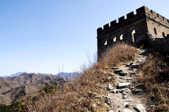 Hiking on the Great Wall Royalty Free Stock Photos