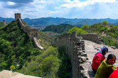 Hiking the Great Wall Royalty Free Stock Photo