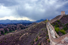 Hiking the Great Wall Royalty Free Stock Photography