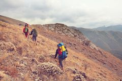 Hike in Crimea Stock Photography