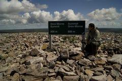 Hiking Grone Morne Mountain Stock Photo