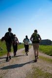 Hiking group Stock Image